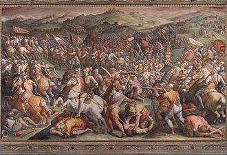 Sienna - Image: Giorgio Vasari The battle of Marciano in Val di Chiana Google Art Project