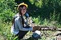 Girl using Crosscut Saw, Mt Baker Snoqualmie National Forest (32071947996).jpg