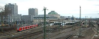 Mannheim Hauptbahnhof - Track field