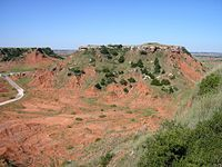 Gloss Mountains in Oklahoma