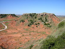 Una vista dei Monti Glass in uno dei parchi nazionali dell'Oklahoma