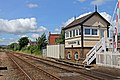 Gobowen North signal box and the railway towards Chirk (geograph 4024038).jpg