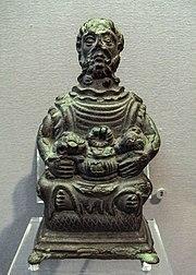 God of Etang sur Arroux possible depiction of Cernunnos