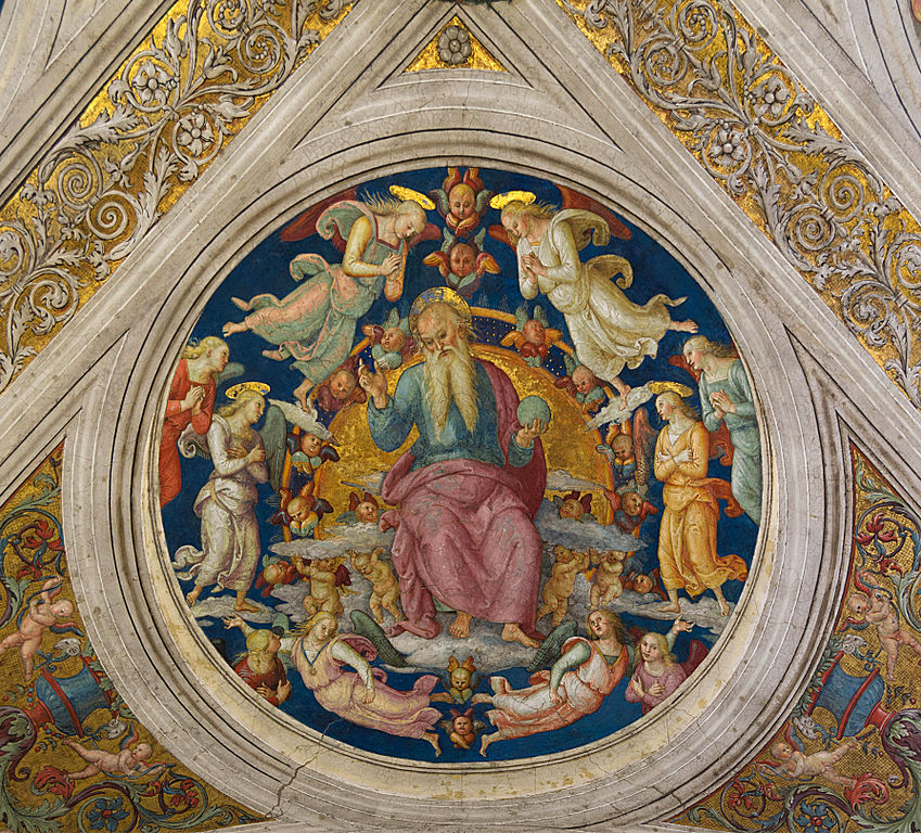 File God The Father And Angels Pietro Perugino Stanza