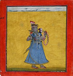 Bhadrakali - Goddess Bhadrakali, gouache on paper (ca. 1660–70)