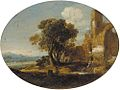 Goffredo Wals (circle of) - An extensive Italianate landscape with classical ruins.jpg