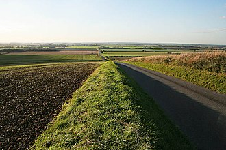 Caythorpe, Lincolnshire - Image: Gorse Hill Lane and the Caythorpe Low Fields geograph.org.uk 256859
