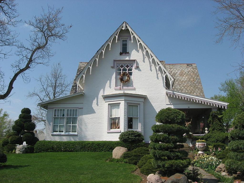 File Gothic Revival House Fredericktown Jpg Wikimedia