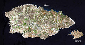 Satellitenbild Gozo