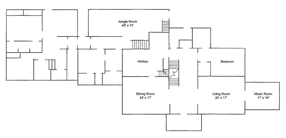 Graceland Memphis TN Floorplan 1st Floor