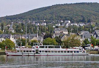 Loretta of Sponheim - The excursion ship Gräfin Loretta on the Moselle near Bullay