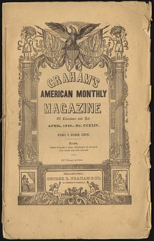 First appearance in graham s american monthly magazine of literature