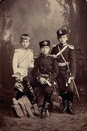 Kirill Vladimirovich, Grand Duke of Russia - Kirill (centre) with his brothers Andrei (left) and Boris (right)