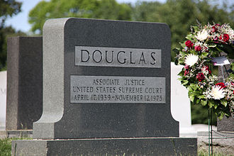 William O. Douglas - Grave of William O. Douglas at Arlington National Cemetery.