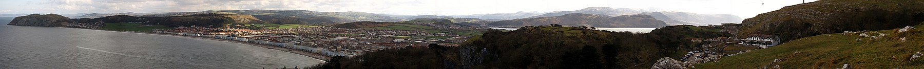 Panorama of Llandudno bay from the Orme