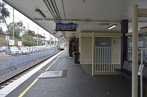 Greensborough railway station - Image: Greensborough station platform