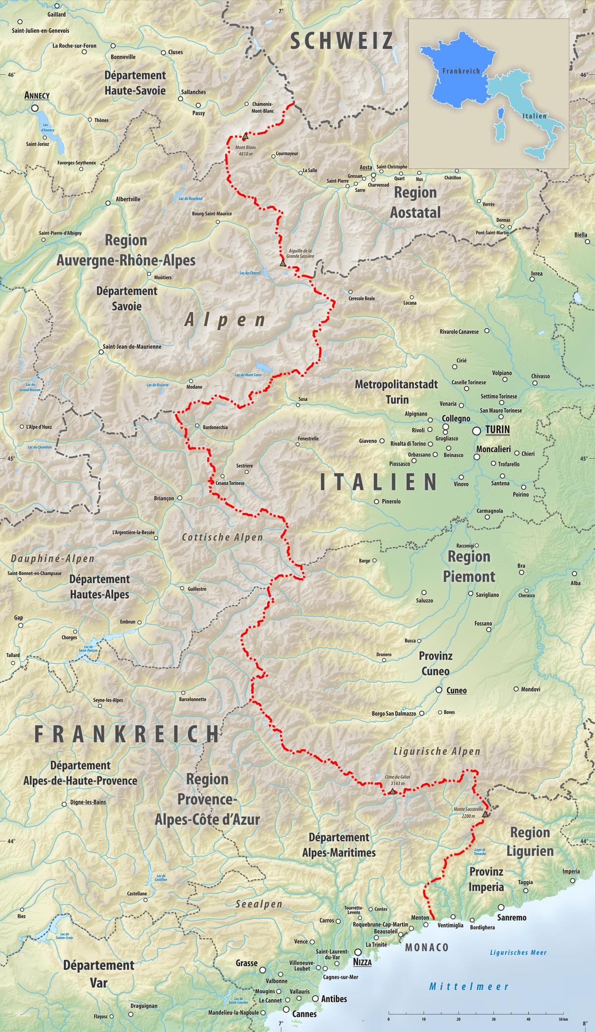 carte de france et italie detaillee» Info » Vacances - Guide Voyage