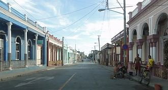 Guantánamo - Main street in front of post office
