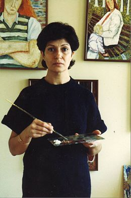 Guity Novin in her Studio at Kingston Ontario.JPG
