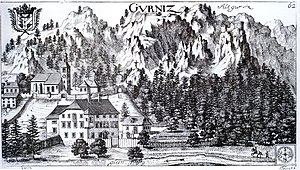 Burgruine Gurnitz - Castle Gurnitz (1688)