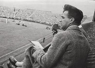 Gust De Muynck's live coverage during Belgium-Netherlands in 1931 Gust De Muynck Belgium-Netherlands 1931.jpg