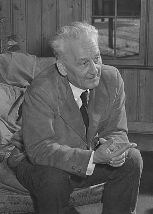 Portrait of Nobel Prize laureate Albert Szent-...