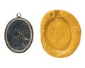 Hängsmycke av lazursten med silver, 1800-tal - Hallwylska museet - 110484.tif