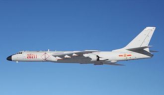 Xian H-6 - H-6K in flight (2015)