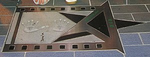 Avenue of Stars, Hong Kong - The hand prints and autograph of director John Woo
