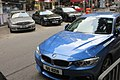 HK 上環 Sheung Wan 樂古道 Lok Ku Road outdoor carpark July 2017 IX1 BMW blue car n Bens.jpg