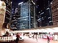 HK 中環 Central night 晚上 Exchange Square 交易廣場 sculture 8 Eight water fountain Oct 2018 SSG 05.jpg