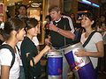 HK Central Night Lan Kwai Fong Carnival 2008 Red Bull Promotion Girls.JPG