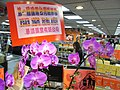 HK Jordan YHCPE Yue Hwa Chinese Products Emporium 1st Pastry Fectival Taiwan purple sign flowers Sept-2012.JPG