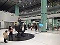 HK Lok Ma Chau MTR Station 落馬洲站 Bauhinia Rider sculpture Chinese Scuptor 蔣朔 Jiang Shuo Bronze statue March 2016 Concourse Level 3 DSC (2).JPG