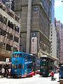 HK Sai Ying Pun Tram 29 body blue n station June 2016 view Bohemian House construction site.jpg