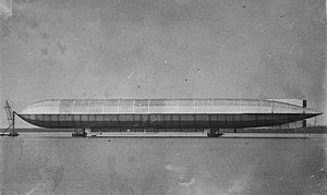 Mooring mast - HMA No 1 (Mayfly) – the first airship known to have been moored to a mast.