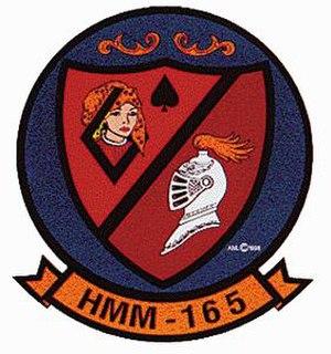 VMM-165 - Vietnam-era squadron insignia.