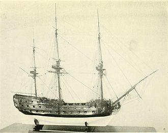 HMS Centurion (1732) - Image: HMS Centurion model