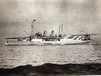 TSS Manxman (1904) - HMS Manxman pictured during her Great War service.