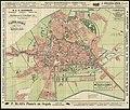 HUA-210074-Plattegrond van de stad Utrecht met weergave van de bebouwing straatnamen en tramlijnen evenals de grenzen van de kiesdistricten voor de Tweede Kamer .jpg