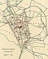 HUA-212086-Plattegrond van de stad Utrecht met directe omgeving met weergave van het stratenplan watergangen kerken kapittels en hun immuniteiten kloosters en ga.jpg