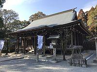 Haiden of Chiriku Hachiman Shrine 2.jpg