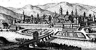 Hammelburg - Hammelburg – engraving by Matthäus Merian 1655