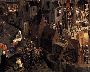 La deposizione dalla croce. Rosso Fiorentino e altri artisti. 310px-Hans_Memling_Passione_4