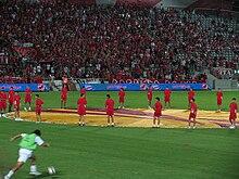 Матч Лиги Европы на стадионе Блумфилд
