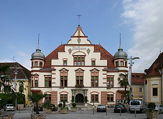 Hartberg Place in Styria, Austria