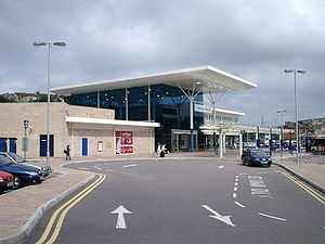 Hastings railway station - The new (2004) station building at Hastings
