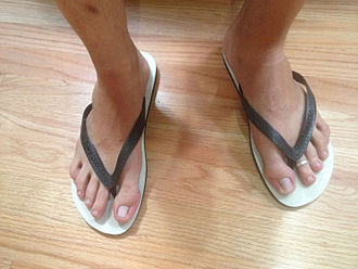 Sandal - Rubber flip-flops are amongst one of the most common types of sandals in the world.