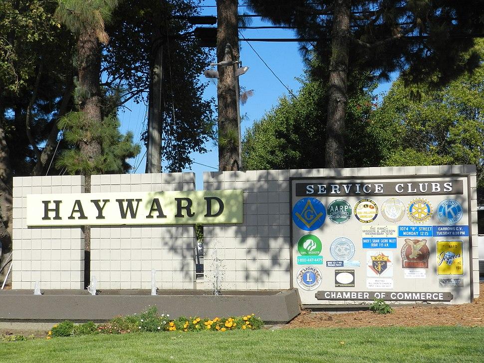Hayward services sign California