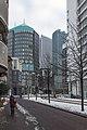 Helicon en gemeentehuis Den Haag in de sneeuw (9301525502).jpg